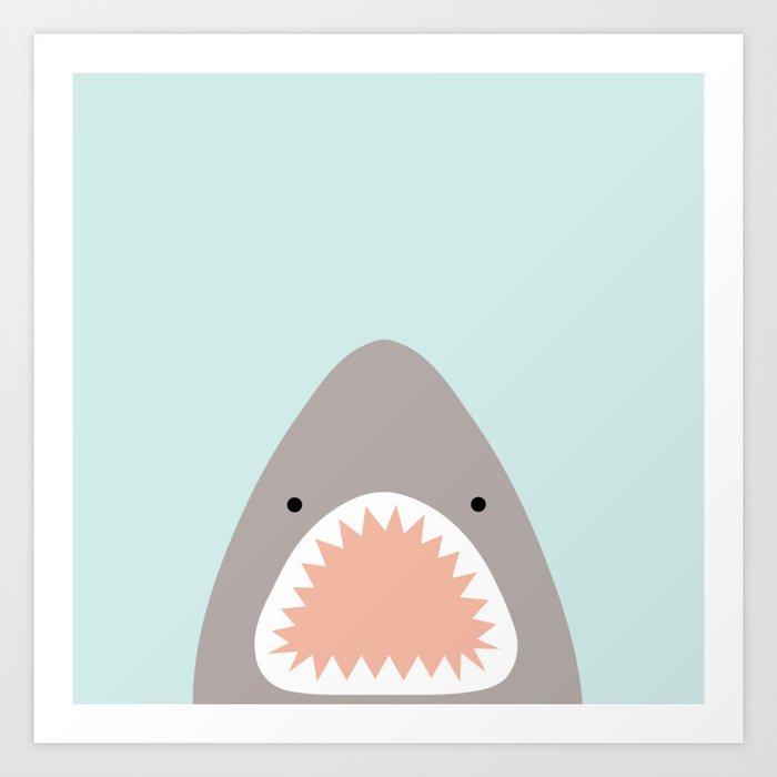 shark attack Kunstdrucke