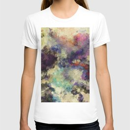Contemporary Abstract Painting in Purple / Violet Color T-shirt