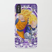 dragonball iPhone & iPod Cases featuring DragonBall Z - Saiyan House by Art of Mike