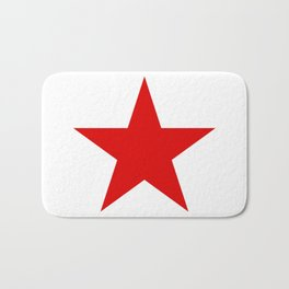 Red Star Art Print Bath Mat