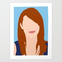emma stone Art Prints featuring Emma Stone Digital Portrait by RoarsAdams