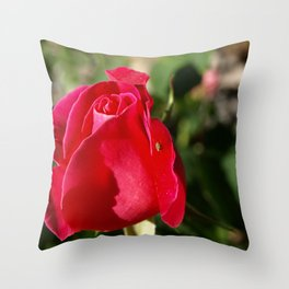 """Rose Bug"" Throw Pillow"
