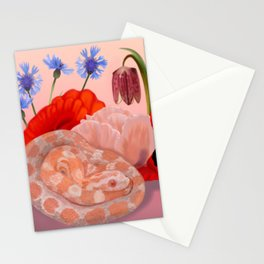 Snek and Poppies Stationery Cards