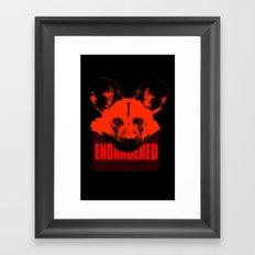 Endangered African Wild Dog Framed Art Print
