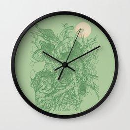 Moon hunter  Wall Clock