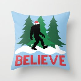 Cryptid Christmas Miracle Throw Pillow