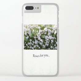 Roses For You Clear iPhone Case