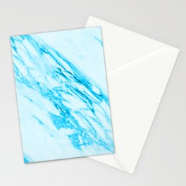 Blue and Cream Marble Pattern Stationery Cards