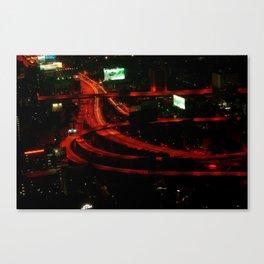 Bangkok by night Canvas Print