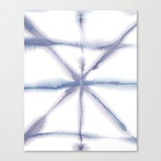Light Dye - Folding Blues Canvas Print