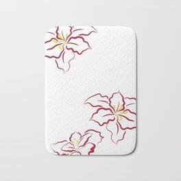 Poinsettia - white Bath Mat
