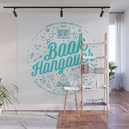 Book Hangover (Cyan) Wall Mural
