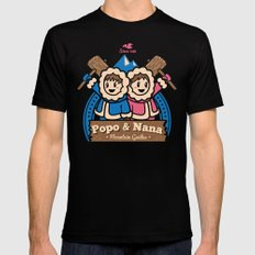 Popo & Nana Mens Fitted Tee Black LARGE