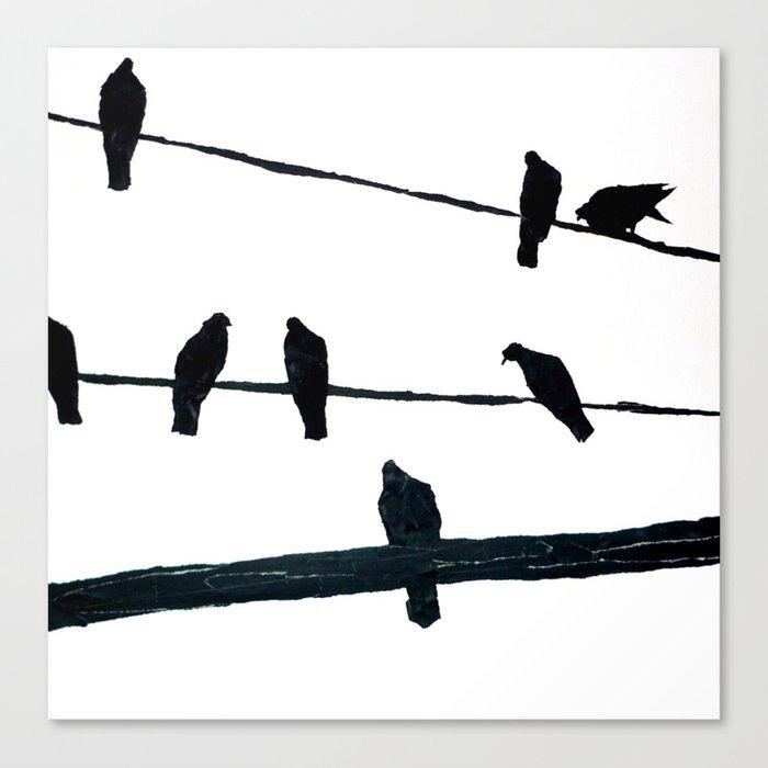 Birds On A Wire Canvas Print By Kaythestertape Society6