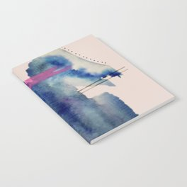 Pour: a blue and purple abstract watercolor Notebook