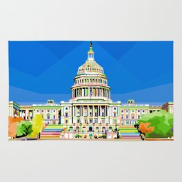 Capitol Building in Anomali WPAP Rug