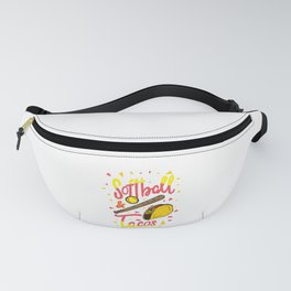 Softball & Tacos - Funny Taco Lover Foodie Gift Fanny Pack
