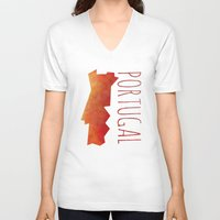 portugal V-neck T-shirts featuring Portugal by Stephanie Wittenburg
