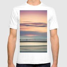 Oceanside Serenity Mens Fitted Tee MEDIUM White