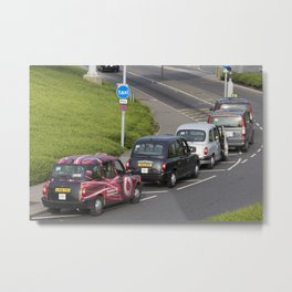 London Taxis Heathrow Airport Metal Print