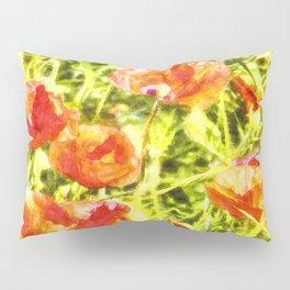 Poppy Watercolour Art Pillow Sham