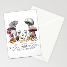 Deadly Mushrooms of North America Stationery Cards