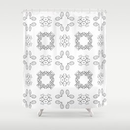 Celtic Kisses Pattern Shower Curtain