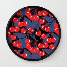 Cherries black Wall Clock