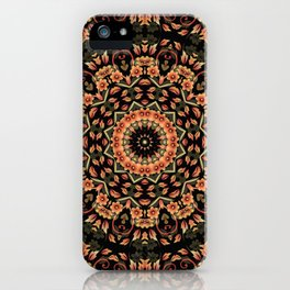 Ombre Floral Mandala iPhone Case