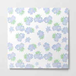 Petite Blue Bouquet Metal Print