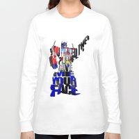 optimus prime Long Sleeve T-shirts featuring Optimus Prime by A Deniz Akerman