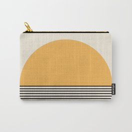 Sunrise / Sunset - Yellow & Black Carry-All Pouch
