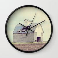 american beauty Wall Clocks featuring American Beauty Vol 15 by Farmhouse Chic