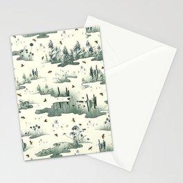 A Marsh Study - Firefly Seamless Pattern Stationery Cards