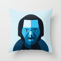 chuck Throw Pillows featuring Chuck Berry by rubenmontero