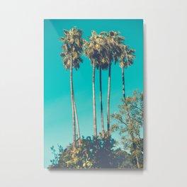 A Few Turquoise Palms Metal Print