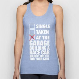 At the garage building a race car Unisex Tank Top