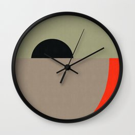 Composition of flat figures V Wall Clock