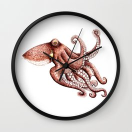 Octopus (Octopus vulgaris) Wall Clock