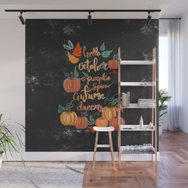 Hello October Wall Mural