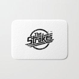 the strokes in black Bath Mat