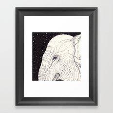 animal moments: elephant Framed Art Print