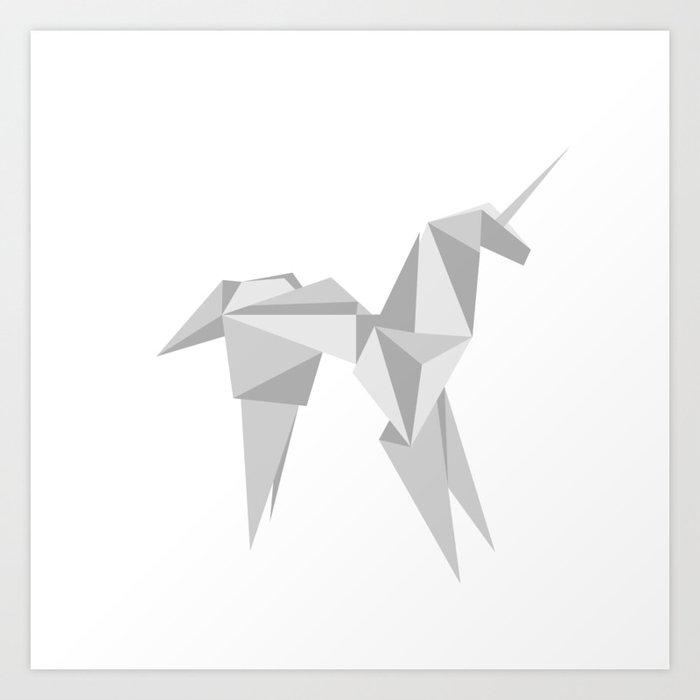 Blade Runner Origami Unicorn Kunstdrucke