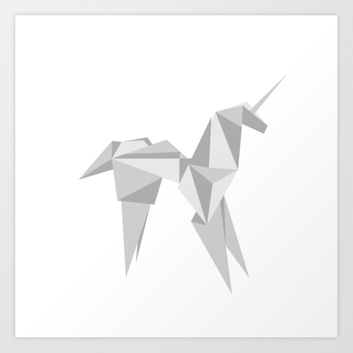 Blade Runner Origami Unicorn Art Print By Lucacarcano Society6
