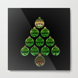 Christmas Bauble Tree Metal Print