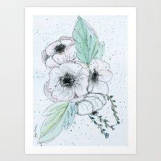 Anemone 2 Art Print