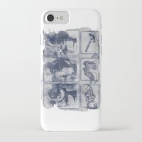 blueprint iPhone & iPod Cases featuring Vigilante Blueprint by Matthew Dunn