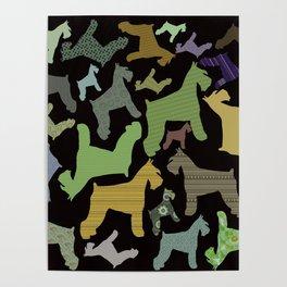 schnauzer pattern *black* Poster