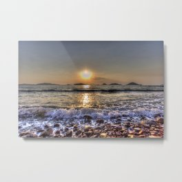 Bodrum Beach Sunset Metal Print