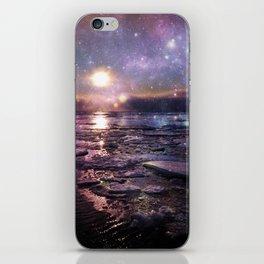 mystic waters blue lavender burgundy iPhone Skin